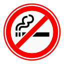 Sign Color No Smoking